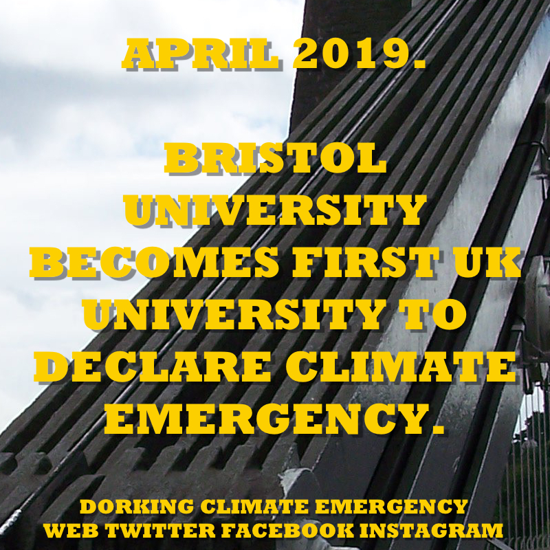 bristol university climate emergency