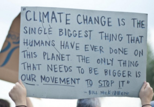 climate change is the biggest thing
