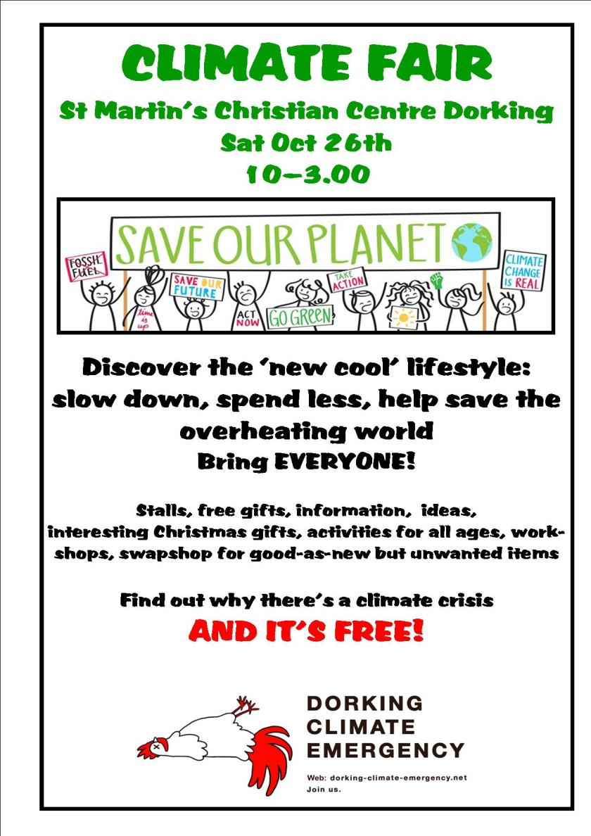 Climate Fair poster 26 Oct 19
